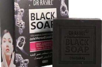 صابون الفحم الأسود والكولاجين من د.راشيل 100جم
