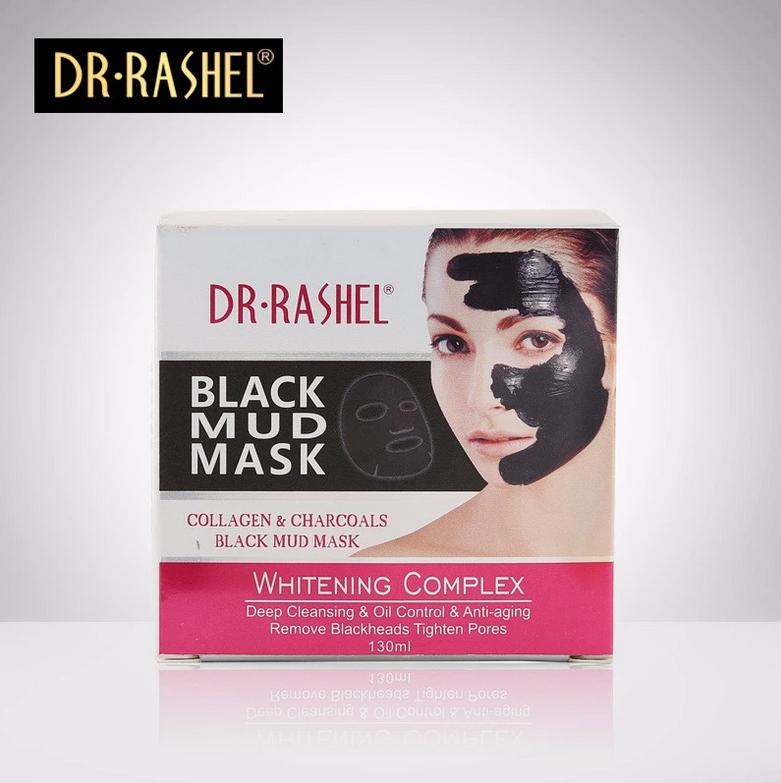 قناع الطين الأسود بالكولاجين والفحم من د.راشيل - 130 مل