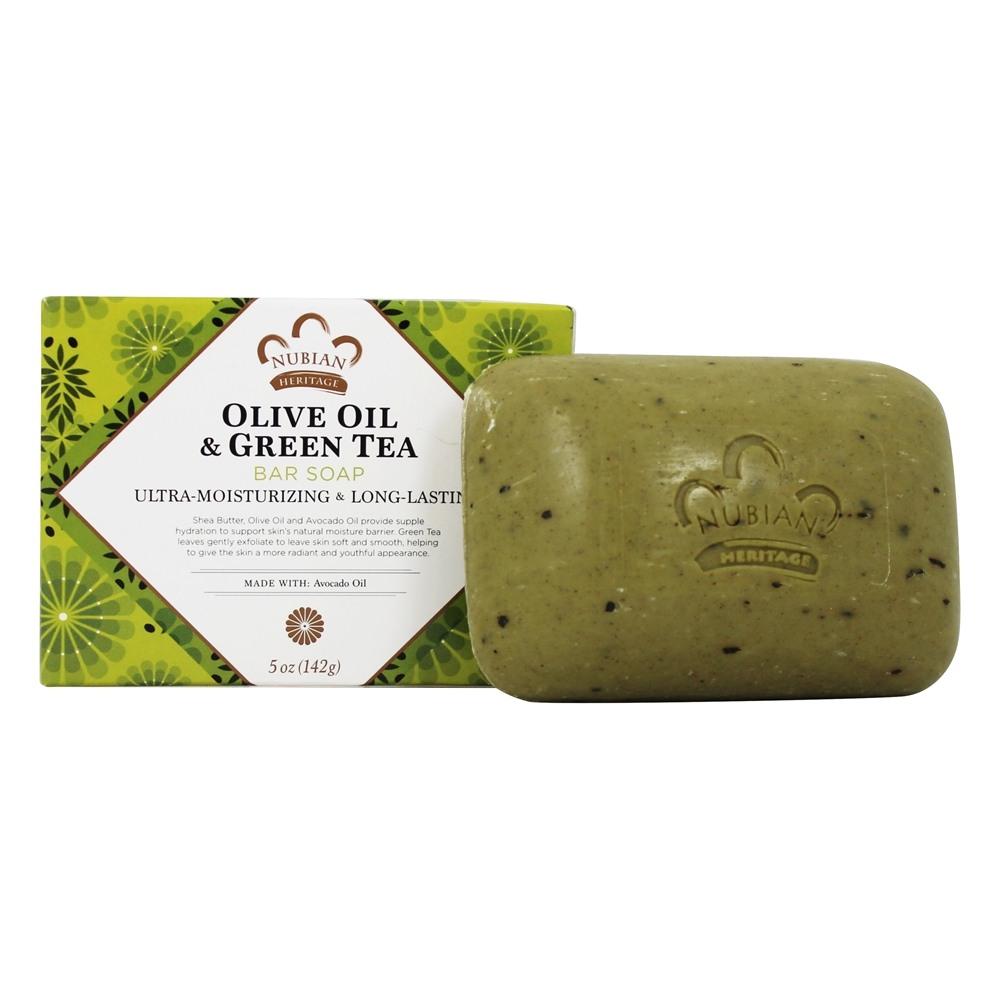 صابون زيت الزيتون والشاي الأخضر من نيوبيان هيرتيج - 142 غ