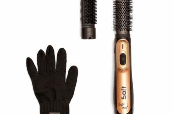 مصفف الشعر الاحترافي مع ملحقين من ايزي واي EW-920 ذهبي وأسود